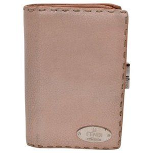 Fendi Pink Selleria Leather Bi-fold Style Wallet